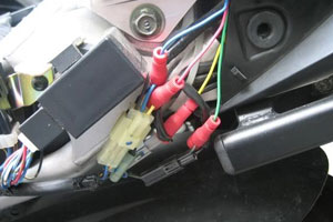Motorcycle wiring loom