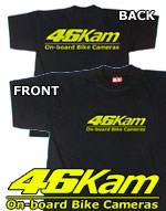 46Kam Motorcycle Camera Official T Shirt