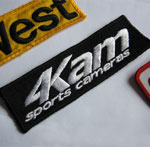 4Kam Sport Cameras sew on badge /race suit patch