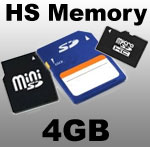 Mini DVR HS Memory Card - 4GB