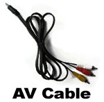 Onboard Helmet Camera and Bike Cam - DVR AV cable