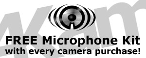 Free Microphone Kit for in car camera!