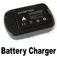 Battery charger for underwater training swimming camera