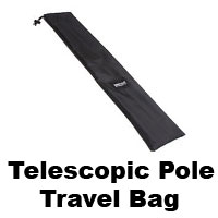 Telescopic camera pole travel bag.
