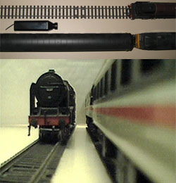 Micro mini video camera model train