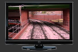 Watch model train camera live on TV