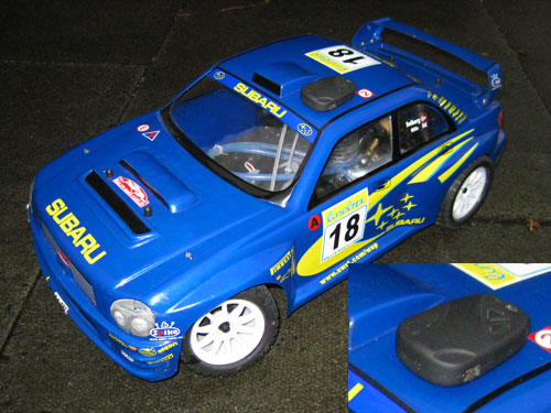 Wireless Micro Camera on RC car (Subaru Radio Controlled Car)